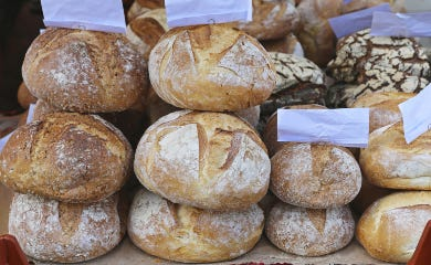 Artisanal Bread sold at market