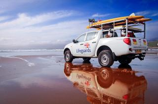 RNLI vehicle on the beach