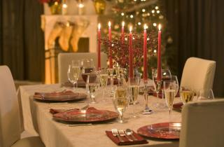 Christmas dinning table