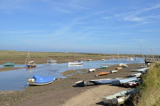 Boats on the North Norfolk coast