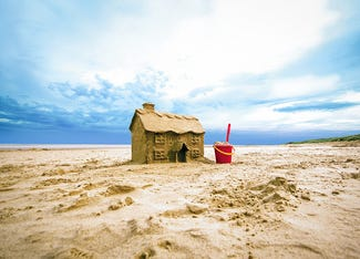 Cottage made out of sand