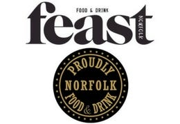 Feast magazine and Proudly Norfolk logos