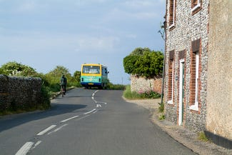 Coast hopper bus in Norfolk