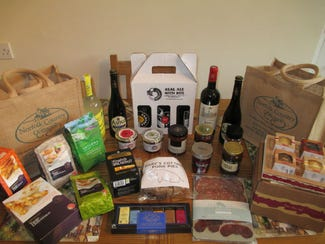 Selection of hamper goodies