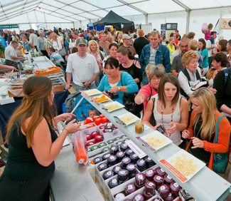 Stalls at the Sandringham food & drink festival