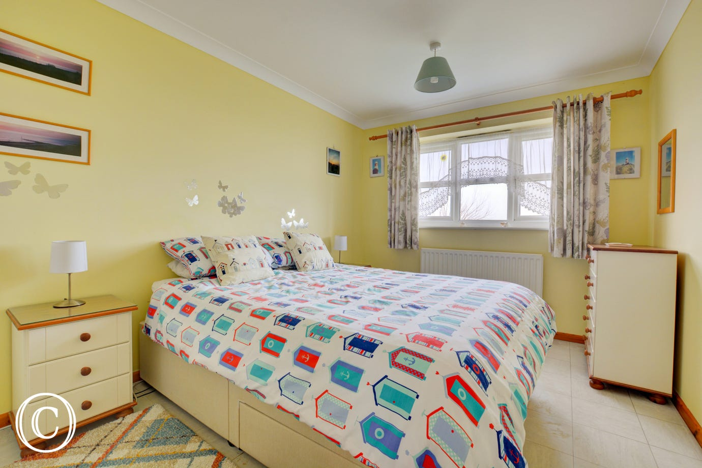 Colourful and comfortable double bedroom.