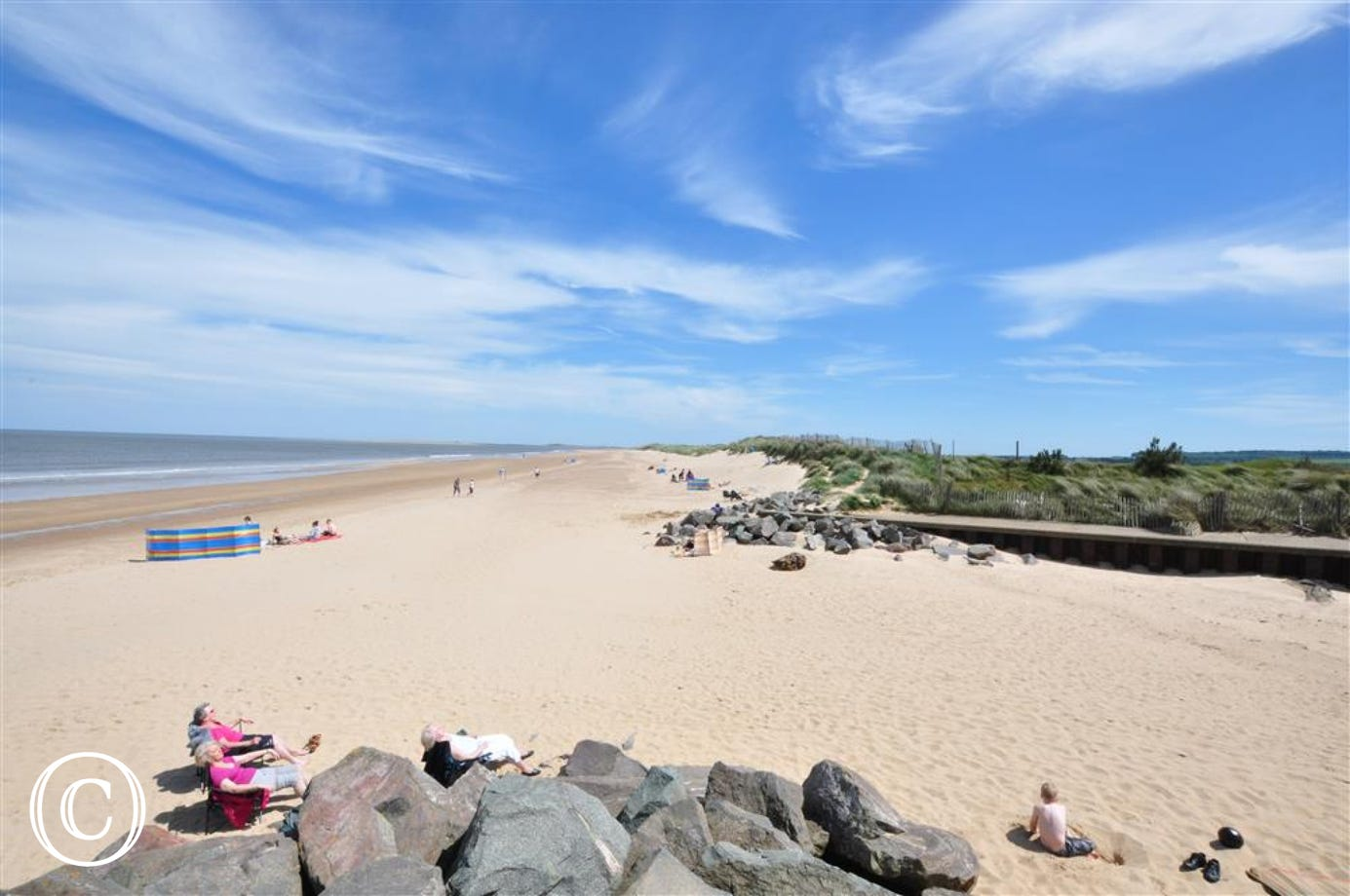 Stunning view of Brancaster Beach