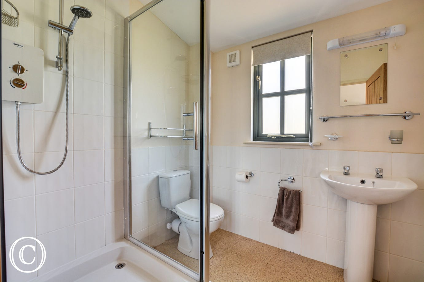 Modern shower room with separate cubicle
