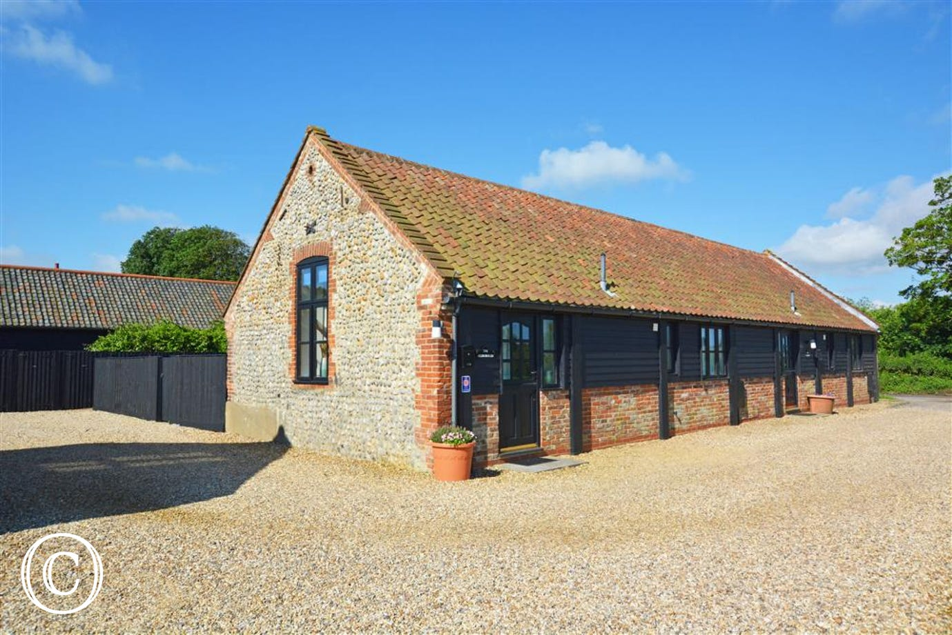 Exterior image of this lovely barn conversion