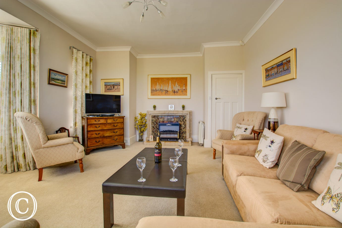 Ground Floor spacious Sitting Room with comfortable seating