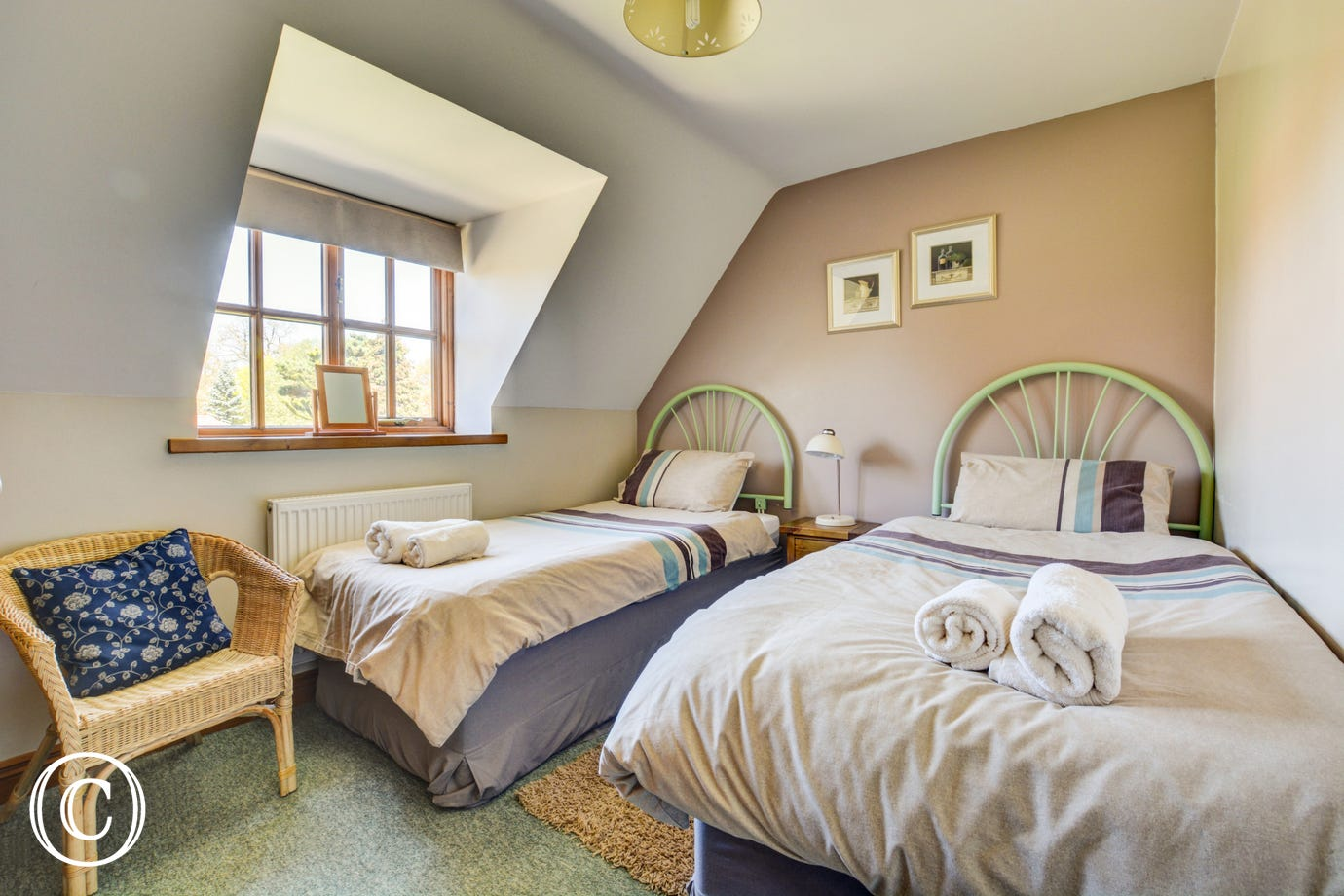 A cosy twin bedded room, ideal for children