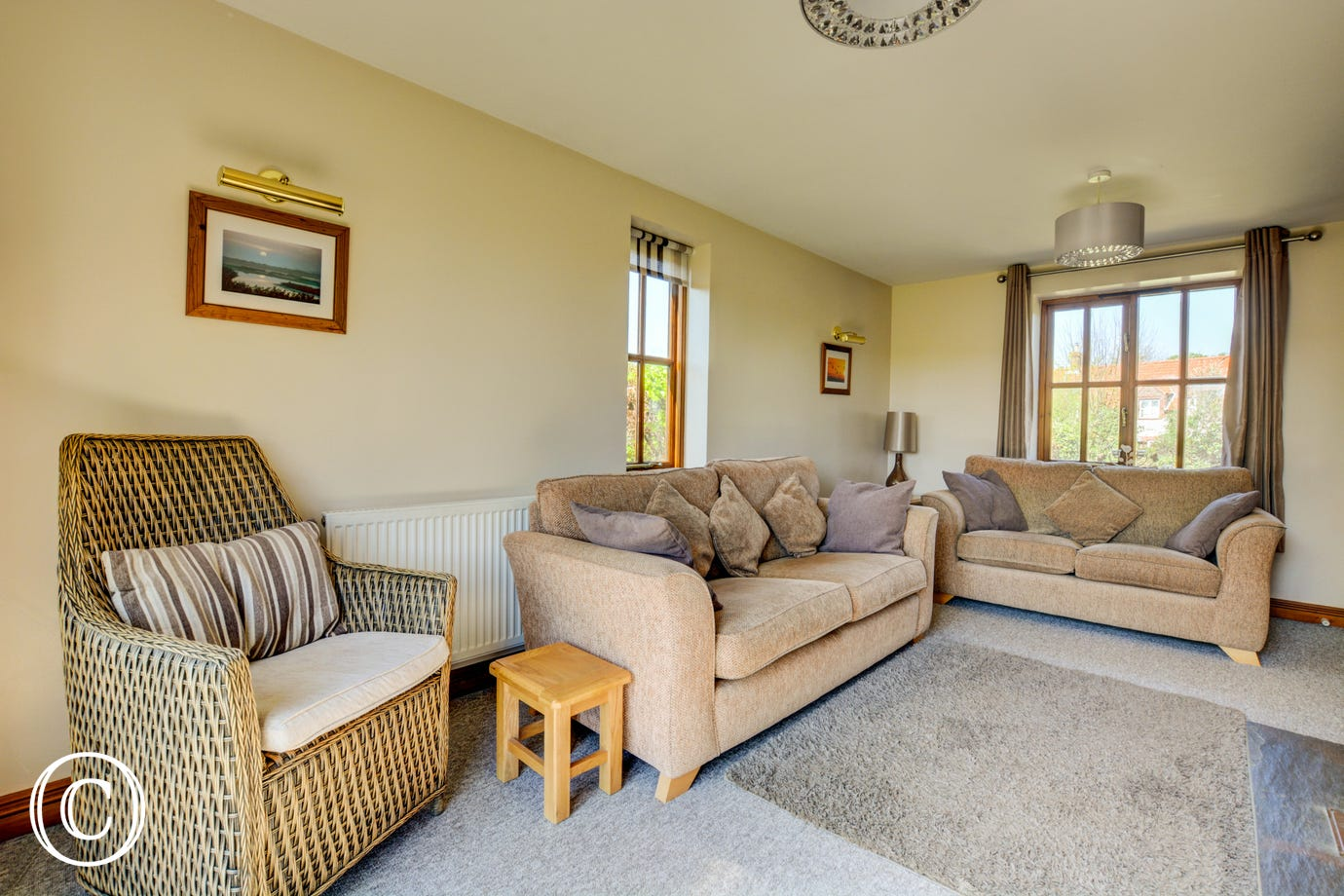 Sitting room with comfortable seating, room for all the family