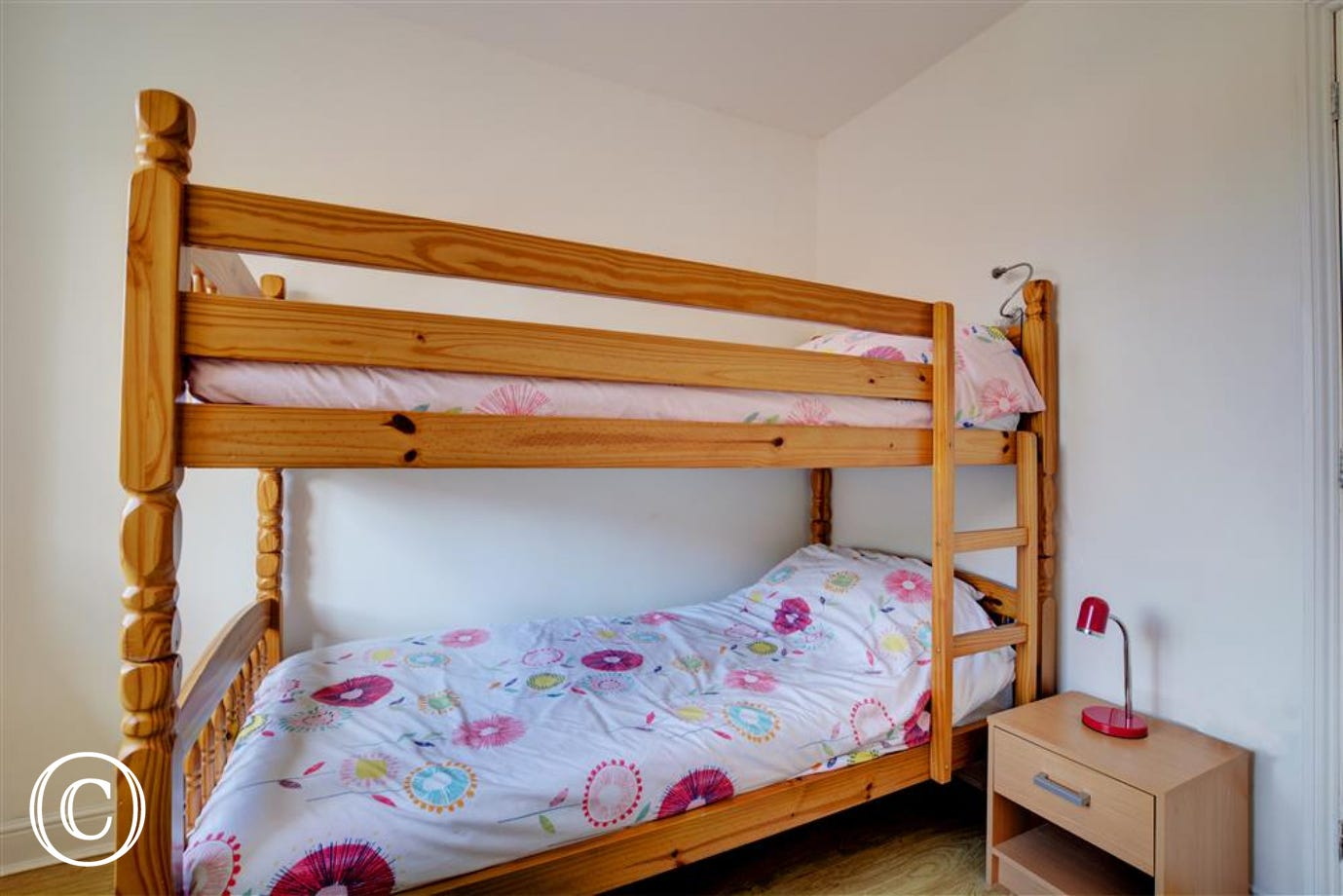 Bunk beds in bedroom two, perfect for children