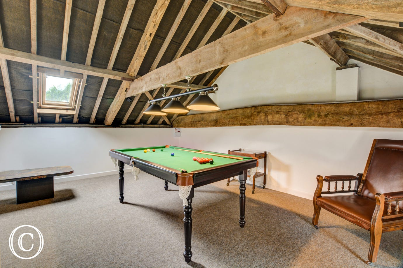 Games Room showing snooker table