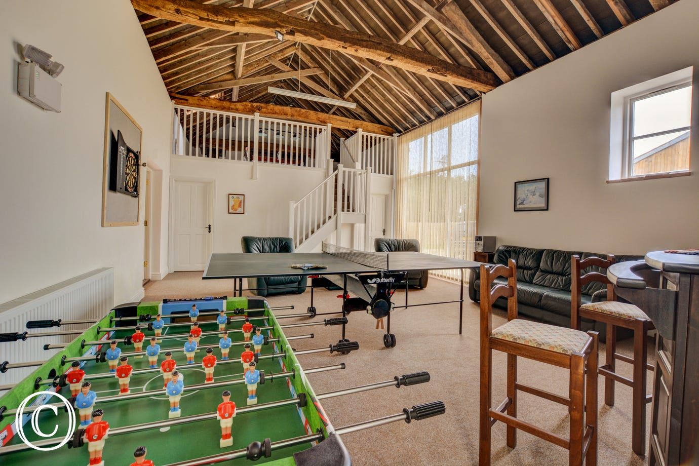 Games Room showing table tennis table and table football