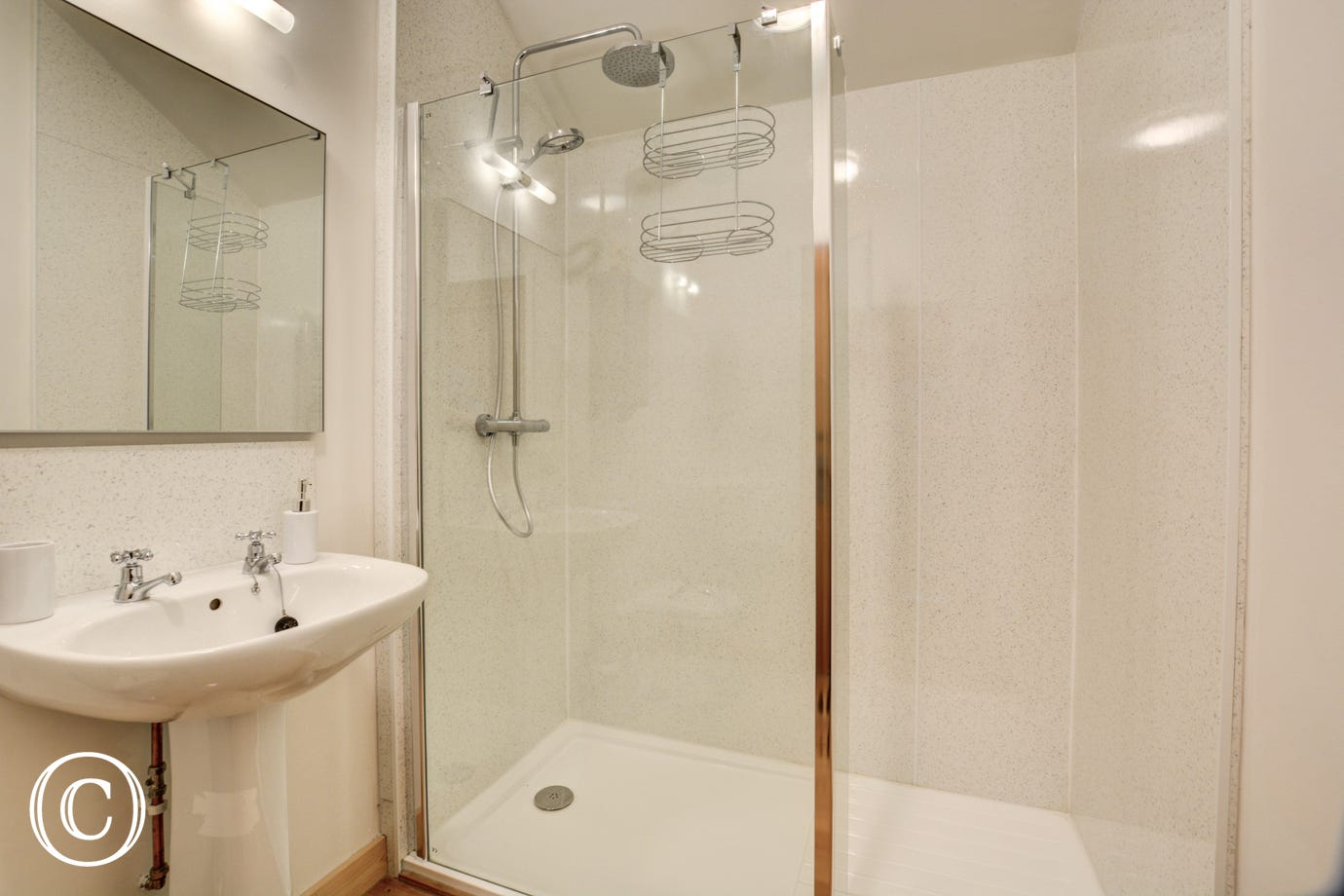 Shower Room with shower, basin and wc