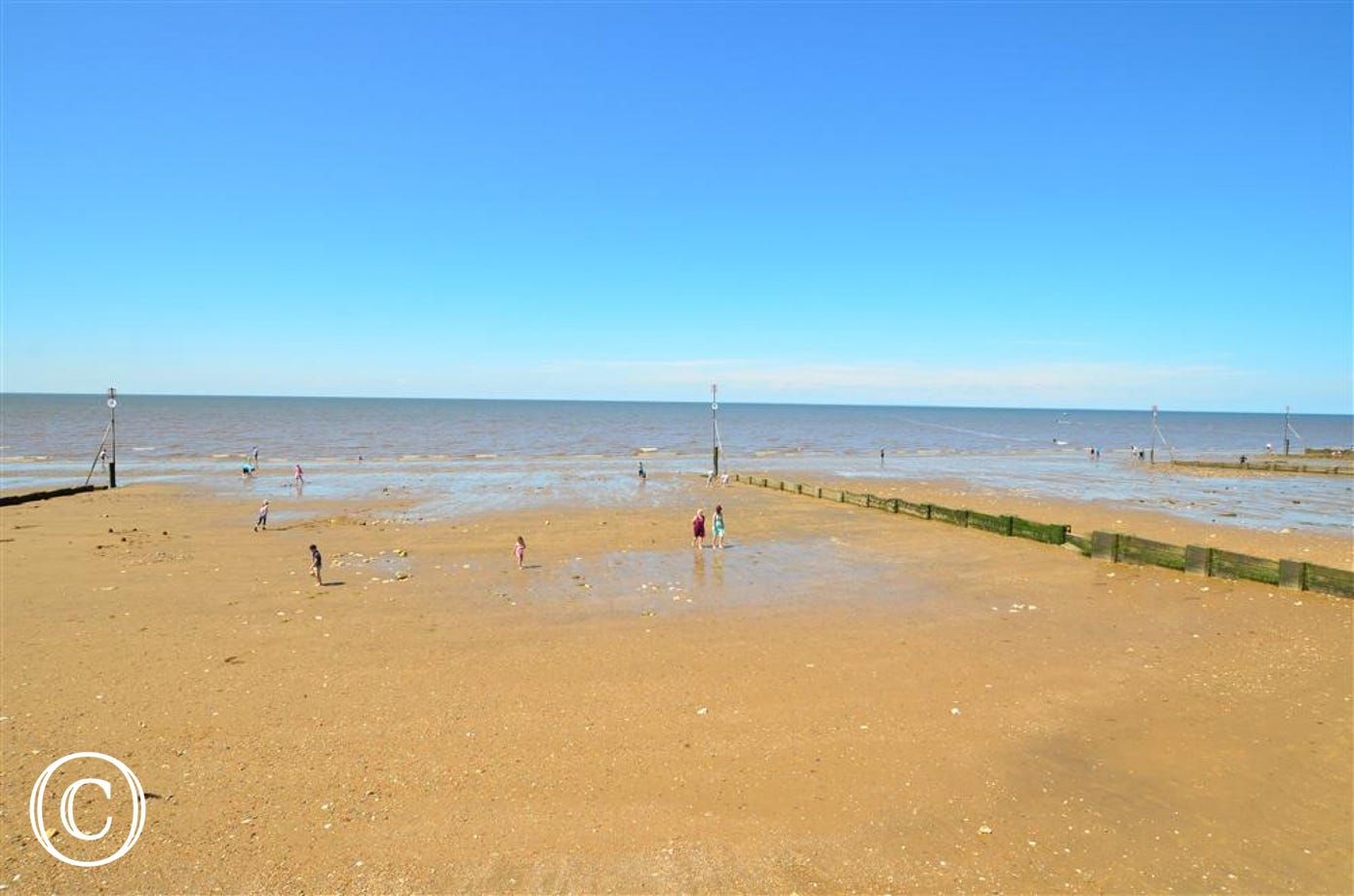 Hunstanton beach, an ideal family holiday resort