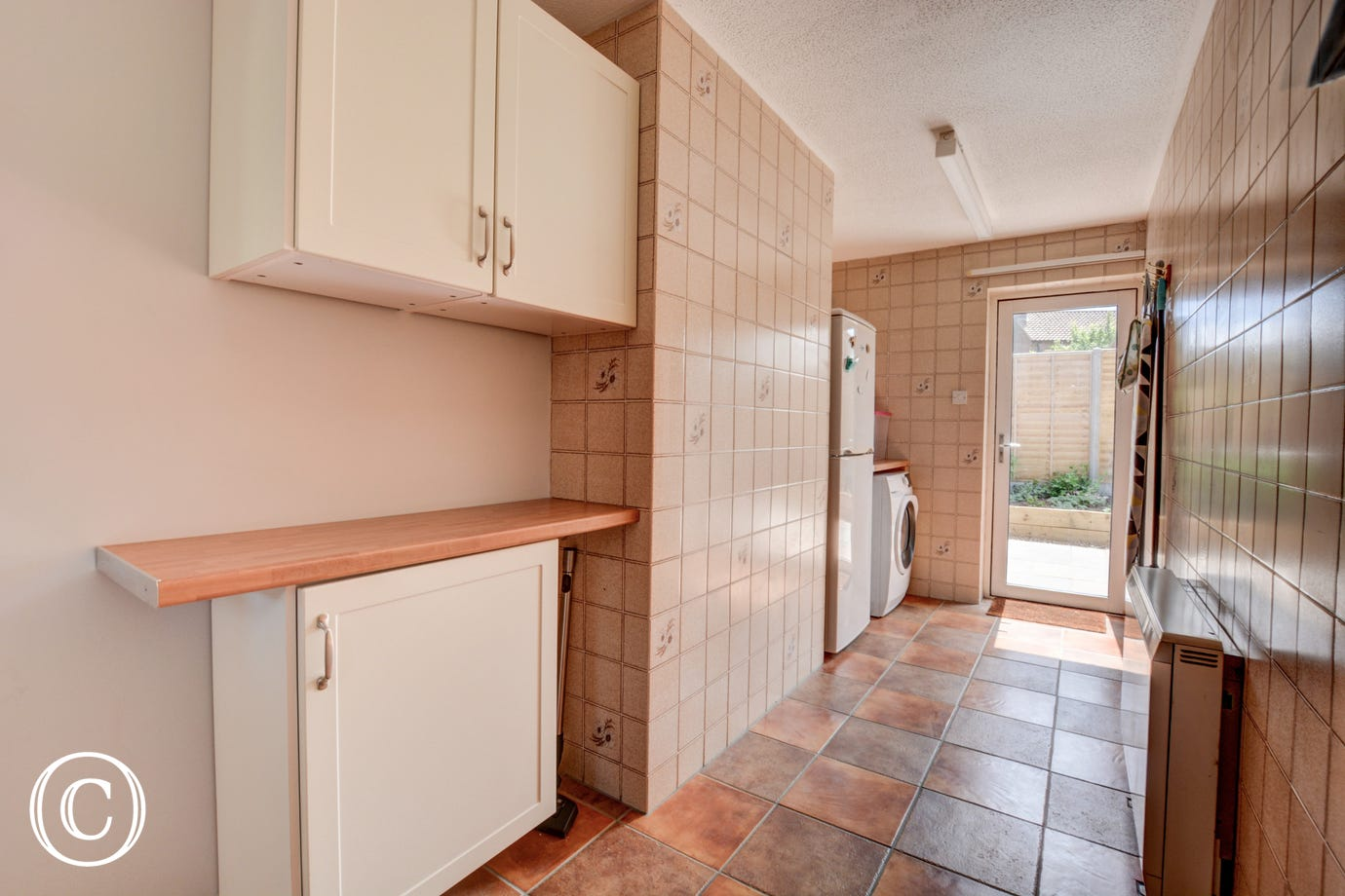 Utility Room with fridge/freezer and tumble dryer