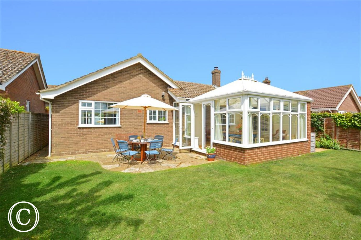 Rear exterior of this lovely bungalow in a fantastic rural location