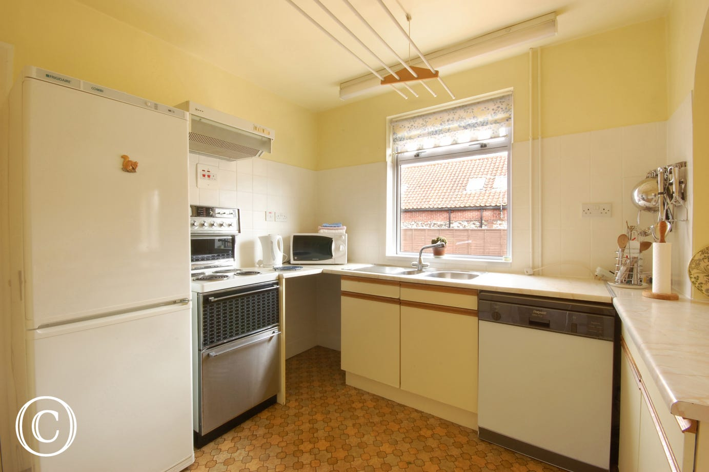 Light, bright spacious well-equipped dining kitchen with an Aga available for the winter months.