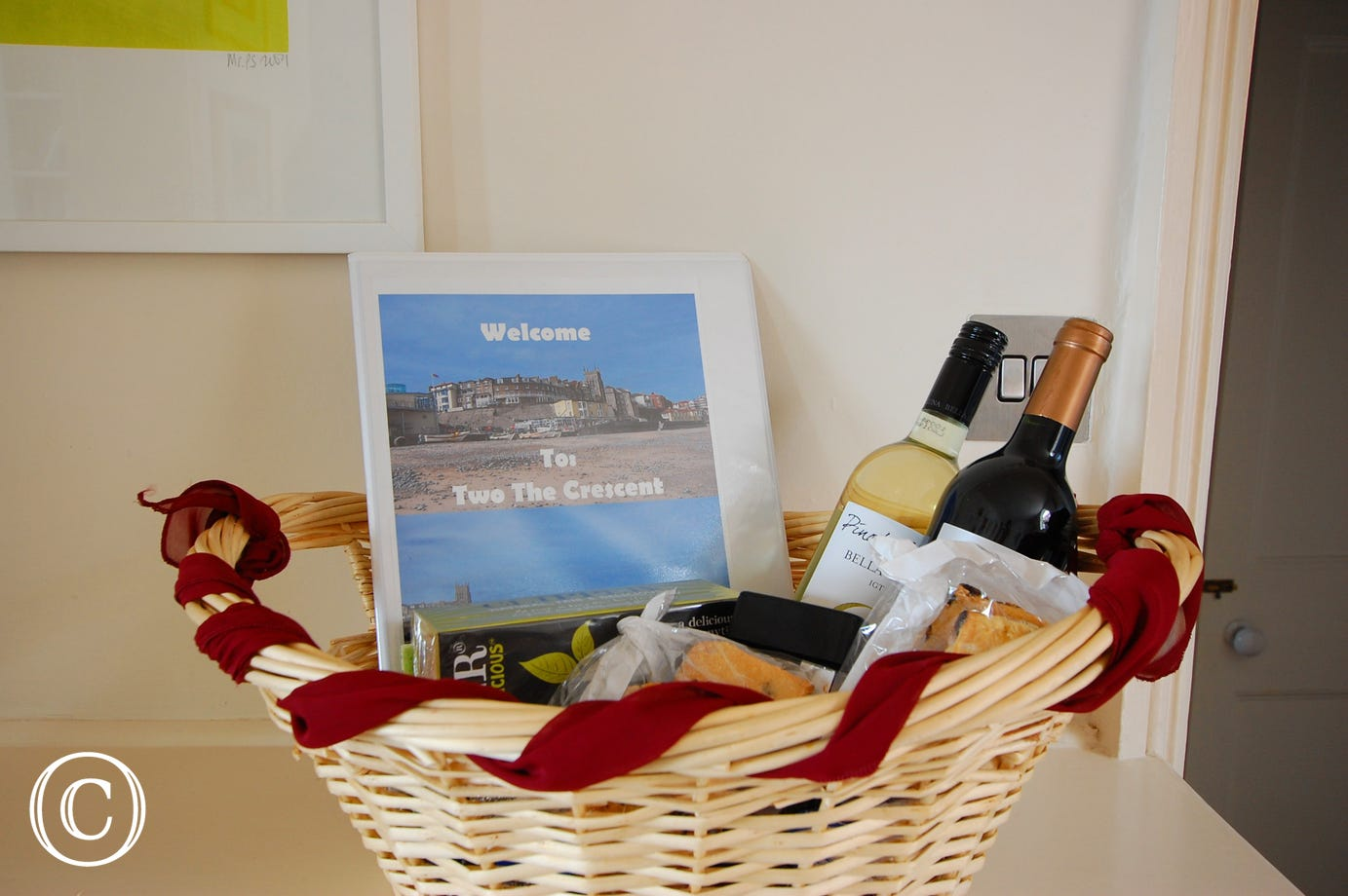 A special goodies basket to welcome you to Cromer.