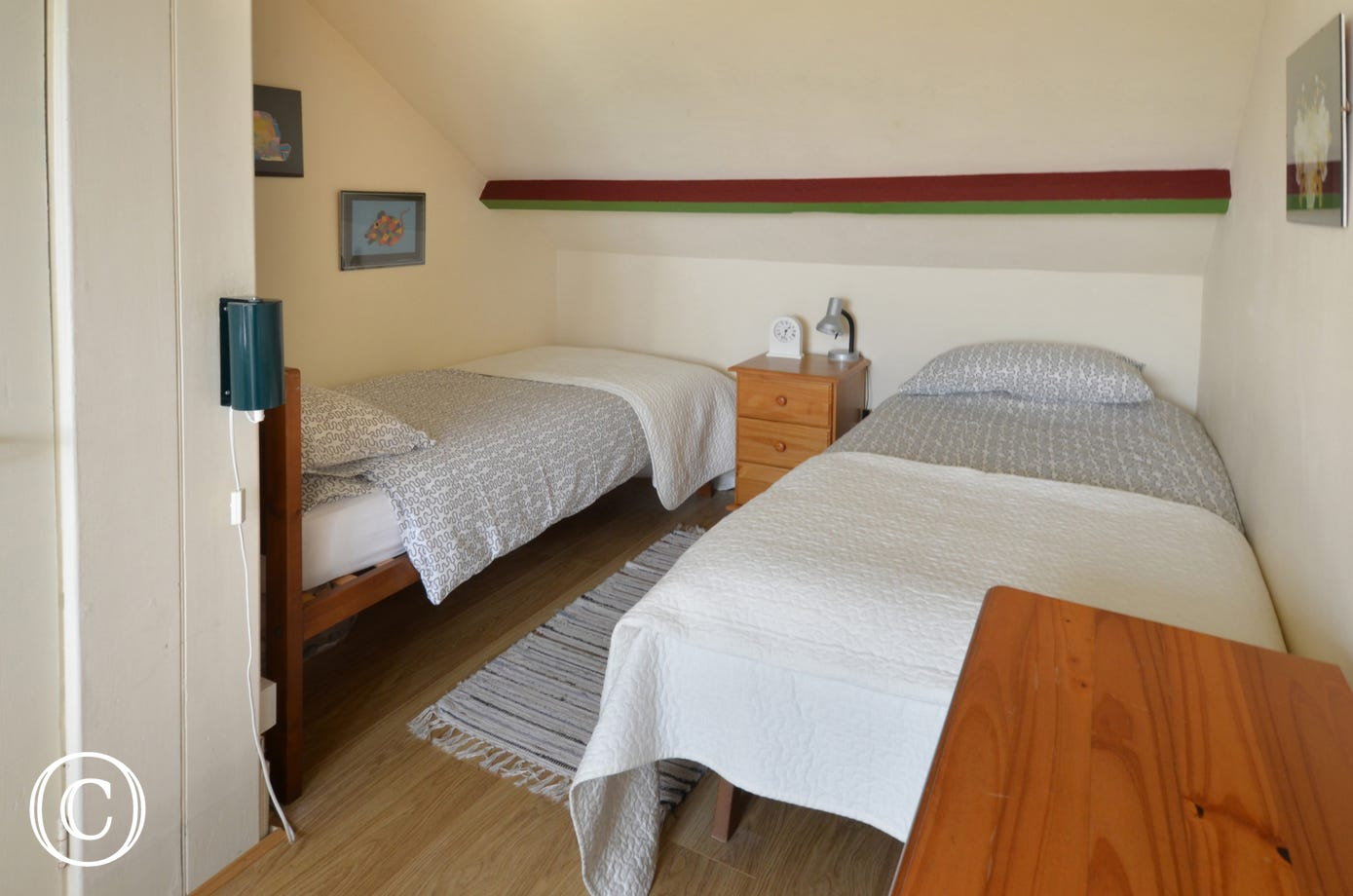 A cosy twin bedded room, ideal for the children