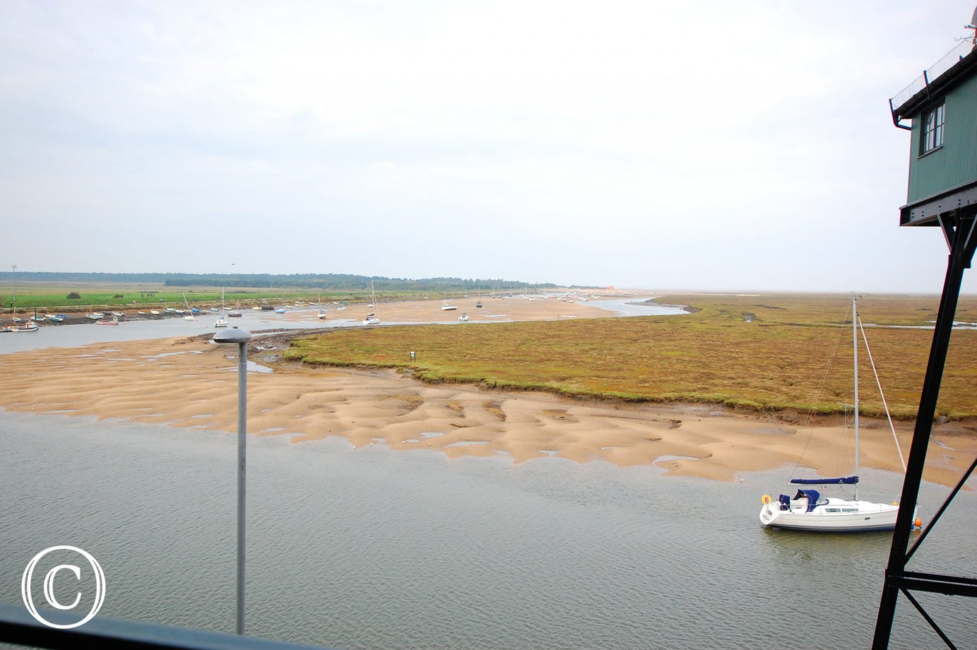 View of the high tide at Wells.