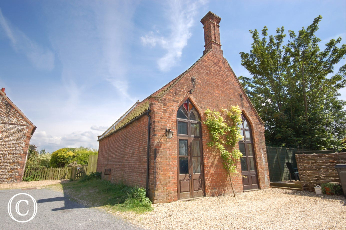 The Mission Hall is a detached property, which is an ideal hideaway for two people. It has been imaginatively converted, and the character features include exposed beams, a large inglenook fireplace and wooden floors throughout the living area.