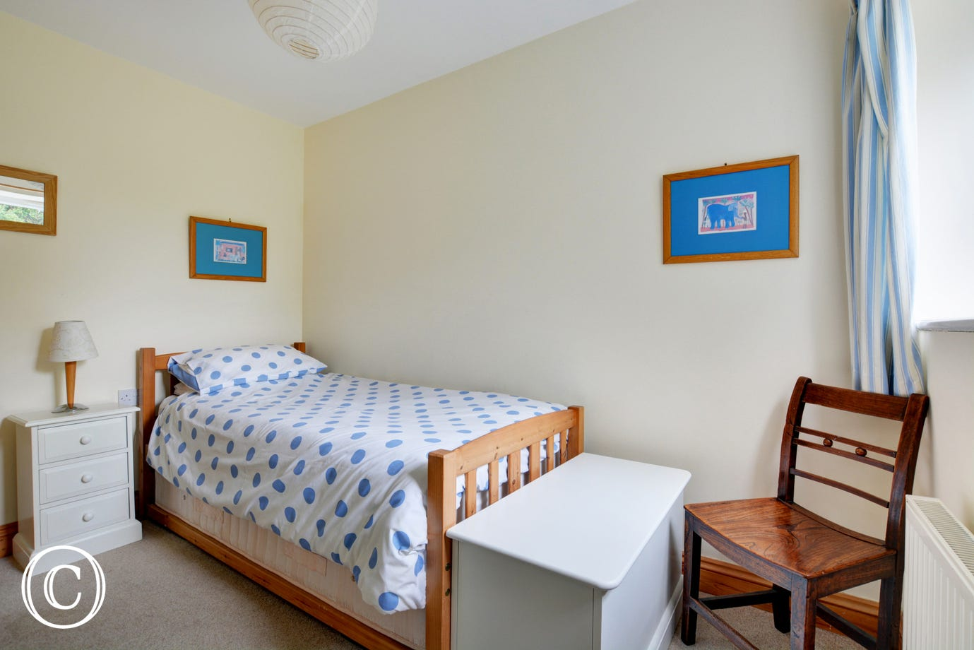 With a single bed and truckle bed, this room could easily accommodate 2 children