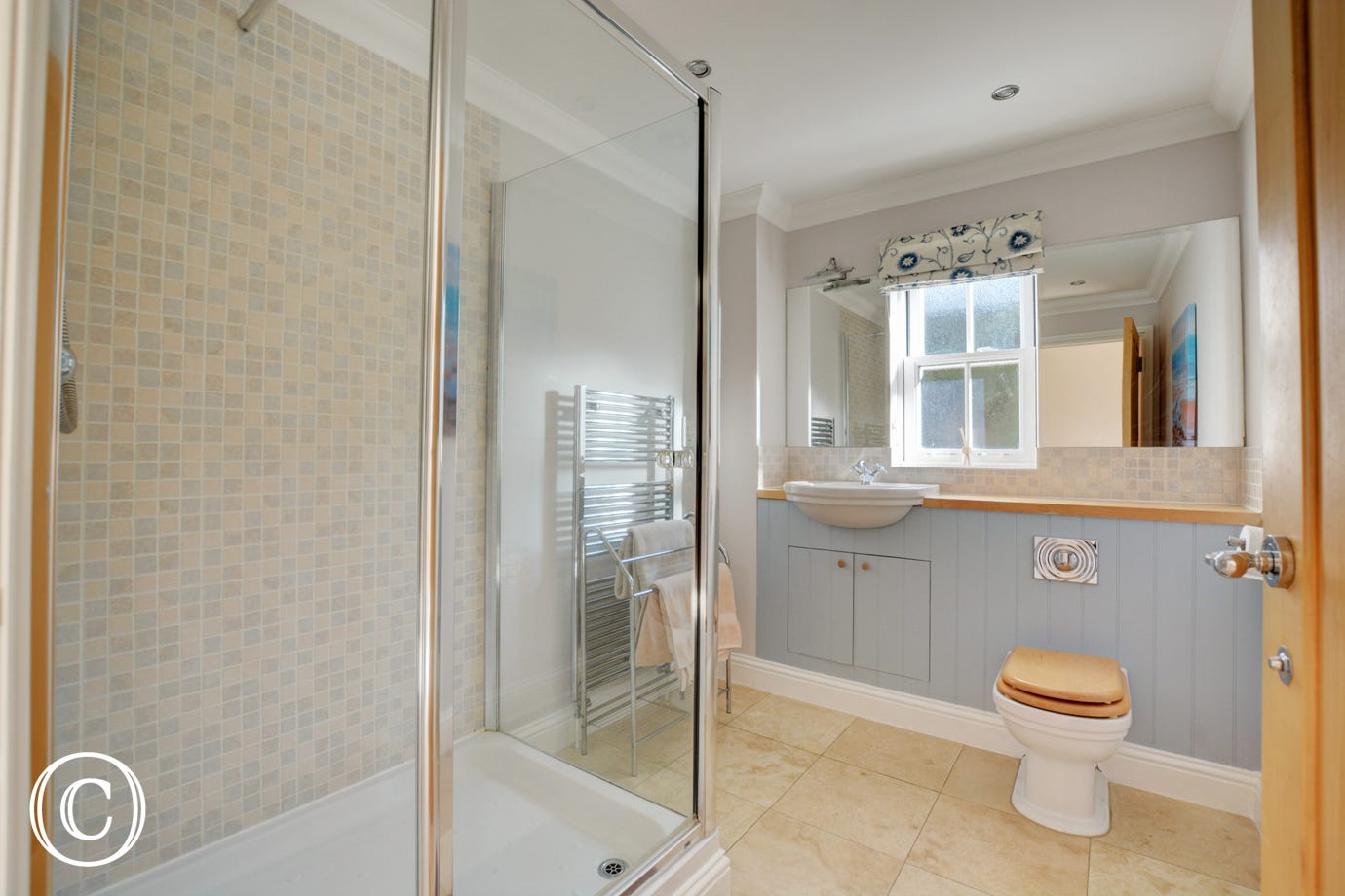 Modern en-suite shower room with cubicle