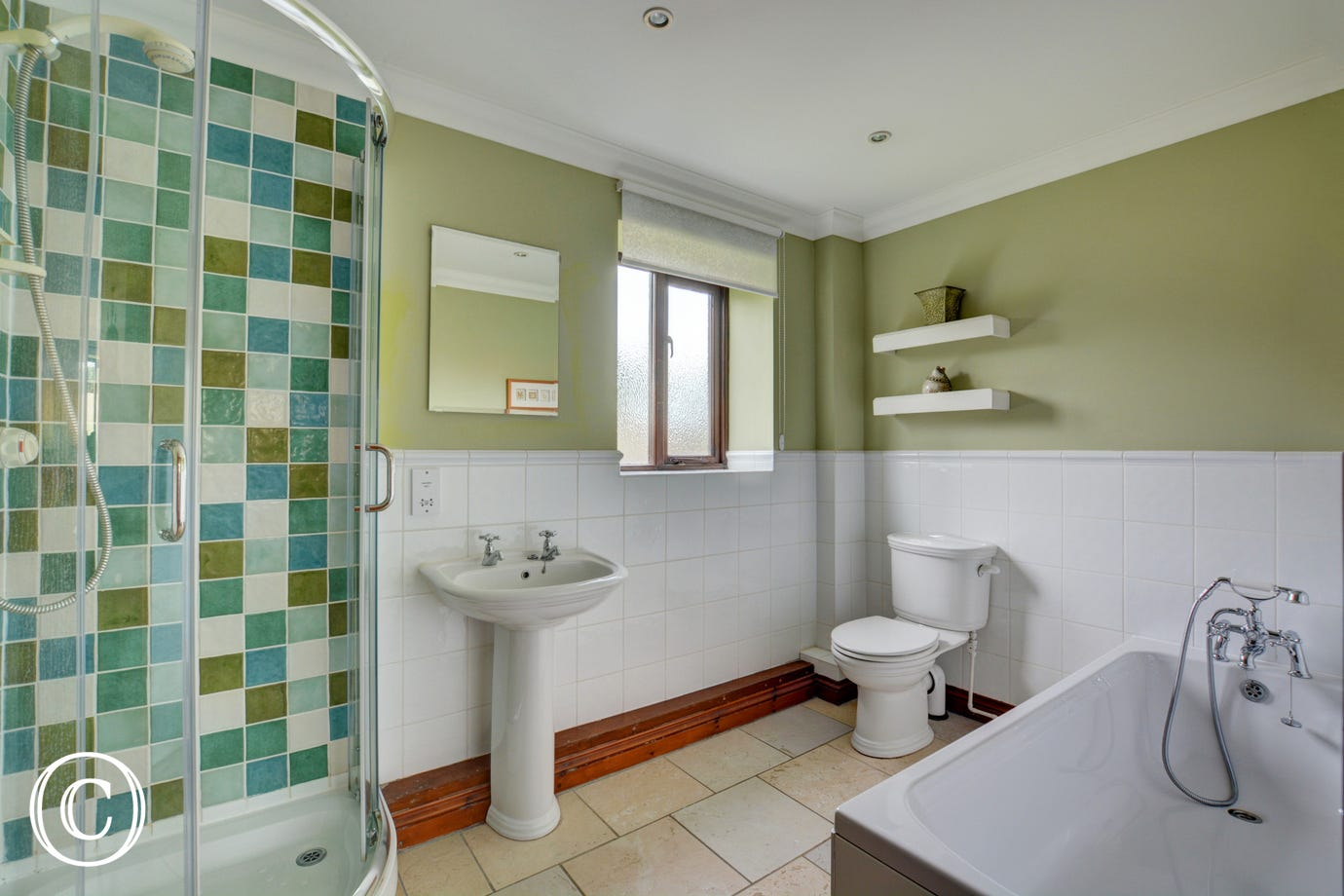 Large modern ensuite to to the double bedroom