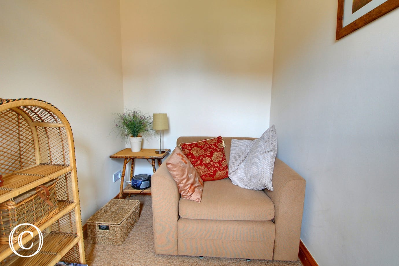 The snug/small sitting room has a chair bed - suitable for children and is an ideal retreat to relax in