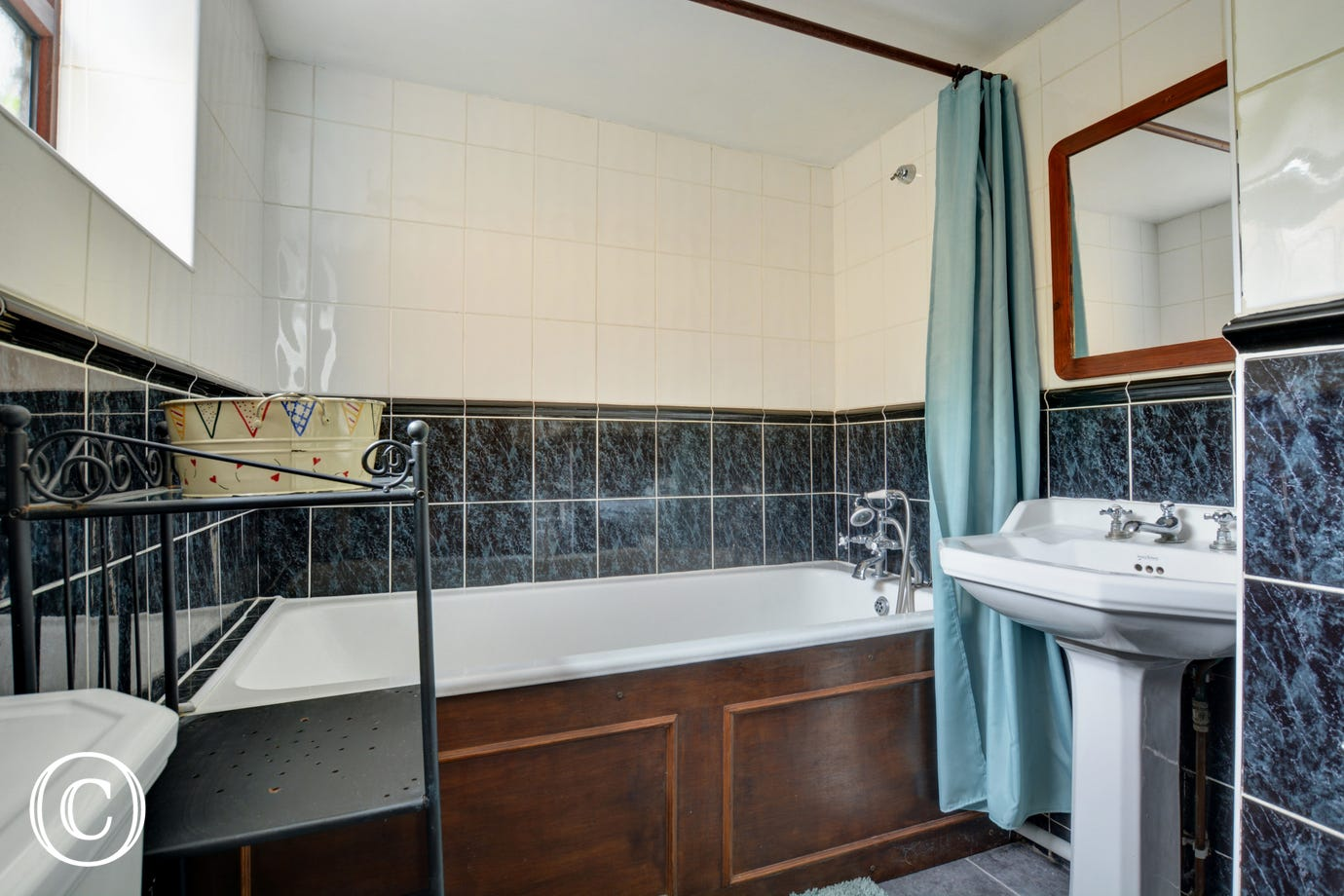 Lovely family bathroom with bath, wc and basin