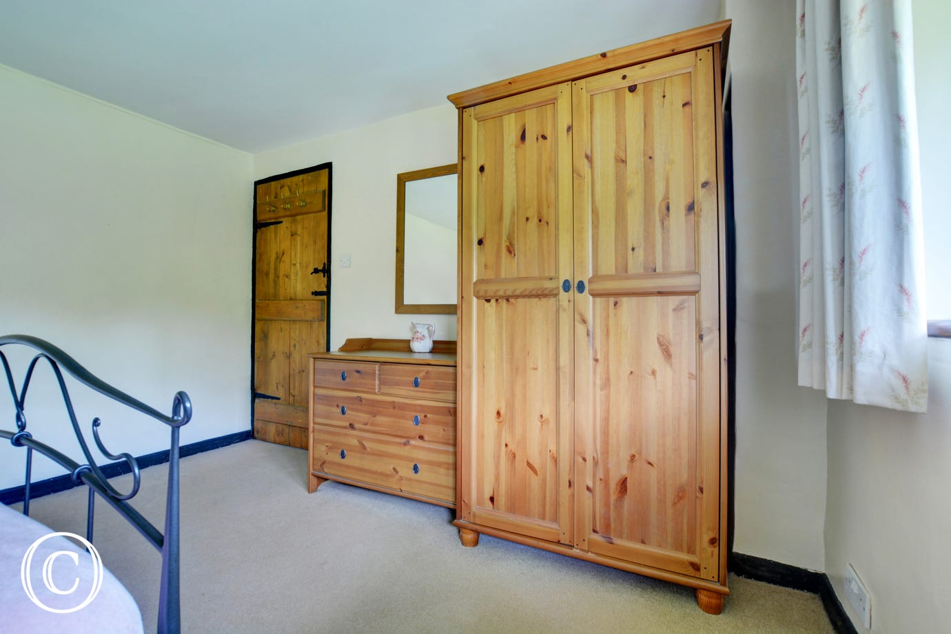 There is ample storage in the double bedded room