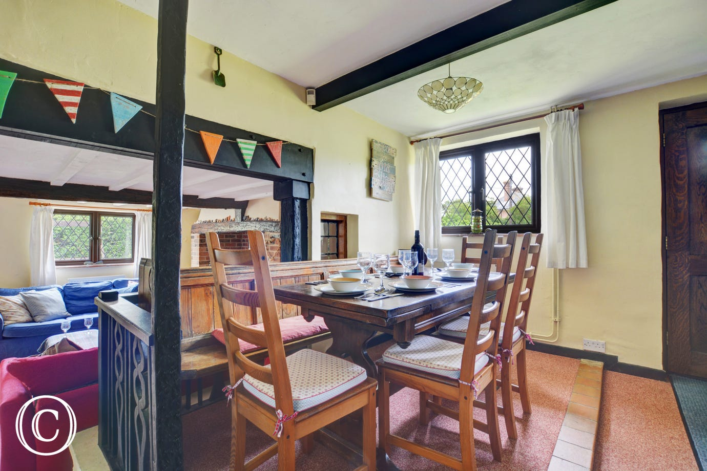 A lovely family dining area with ample seating for everyone
