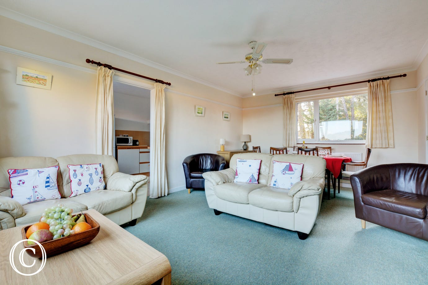 Pleasantly furnished with comfortable seating and space for all the family