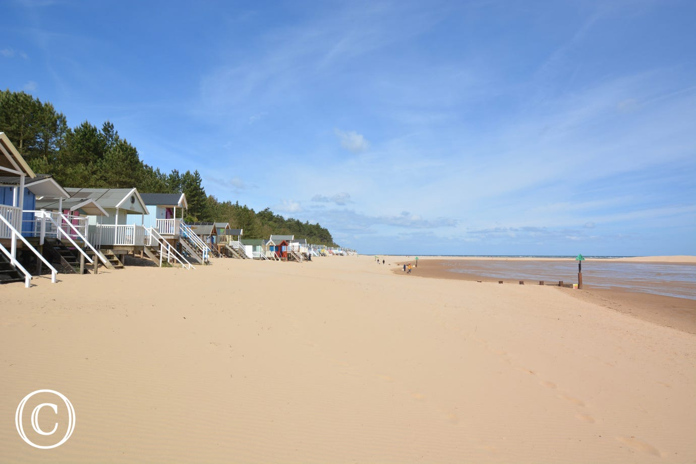 Wells Beach and  Beach Huts