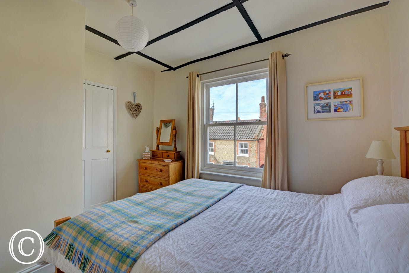 Alternative photograph of double bedroom on first floor.