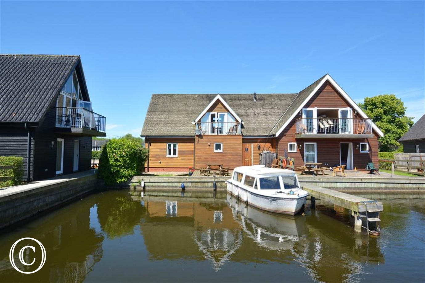 Exterior image of this delightful waterside property