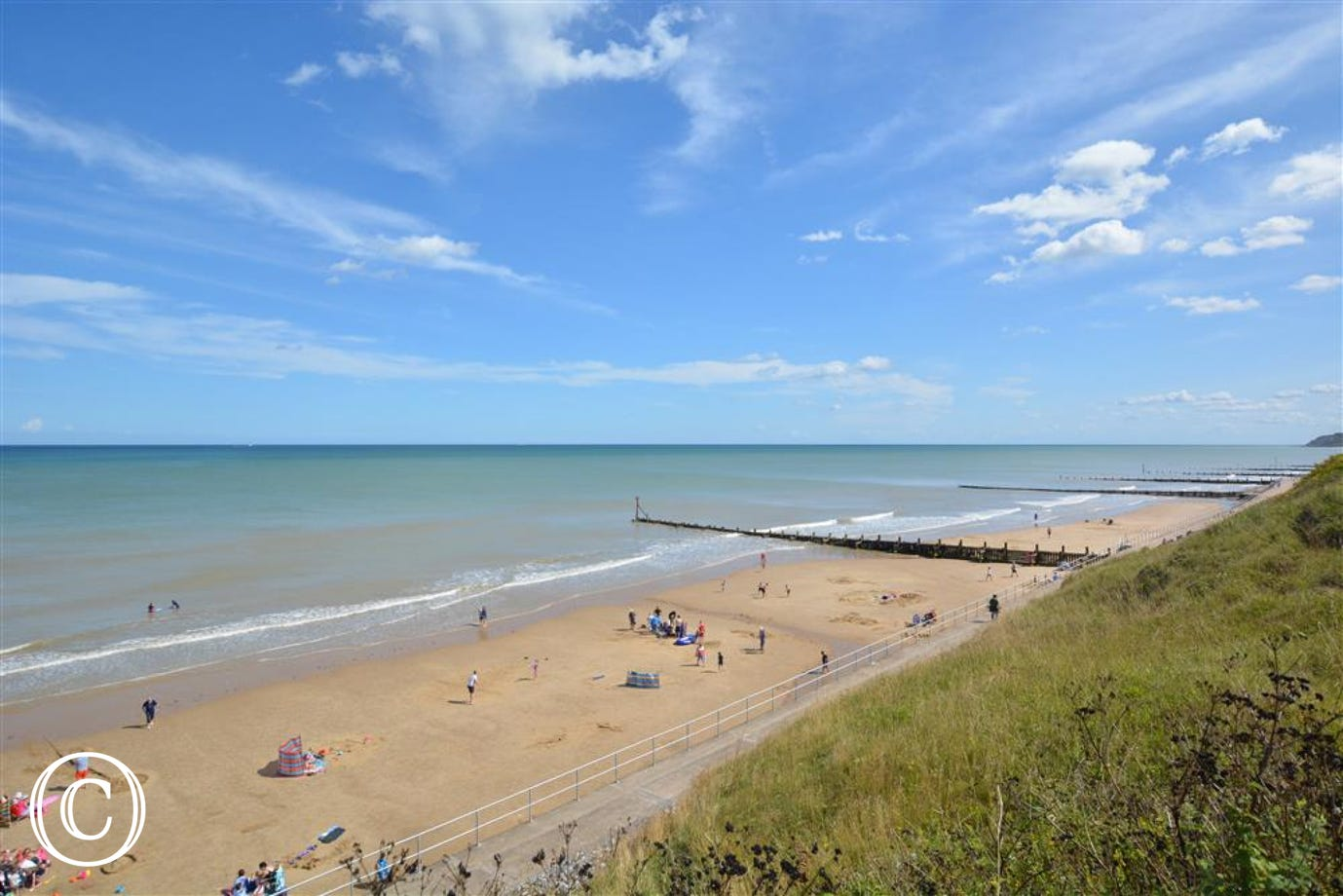 View of the stunning beach at Overstrand