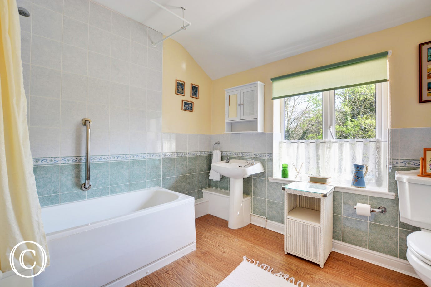 Part-tiled bathroom