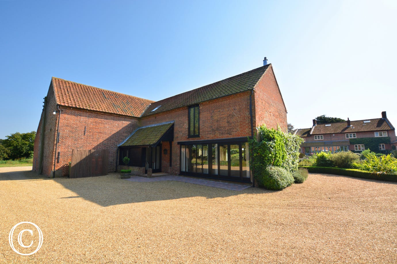 Exterior image of this delightful converted granary