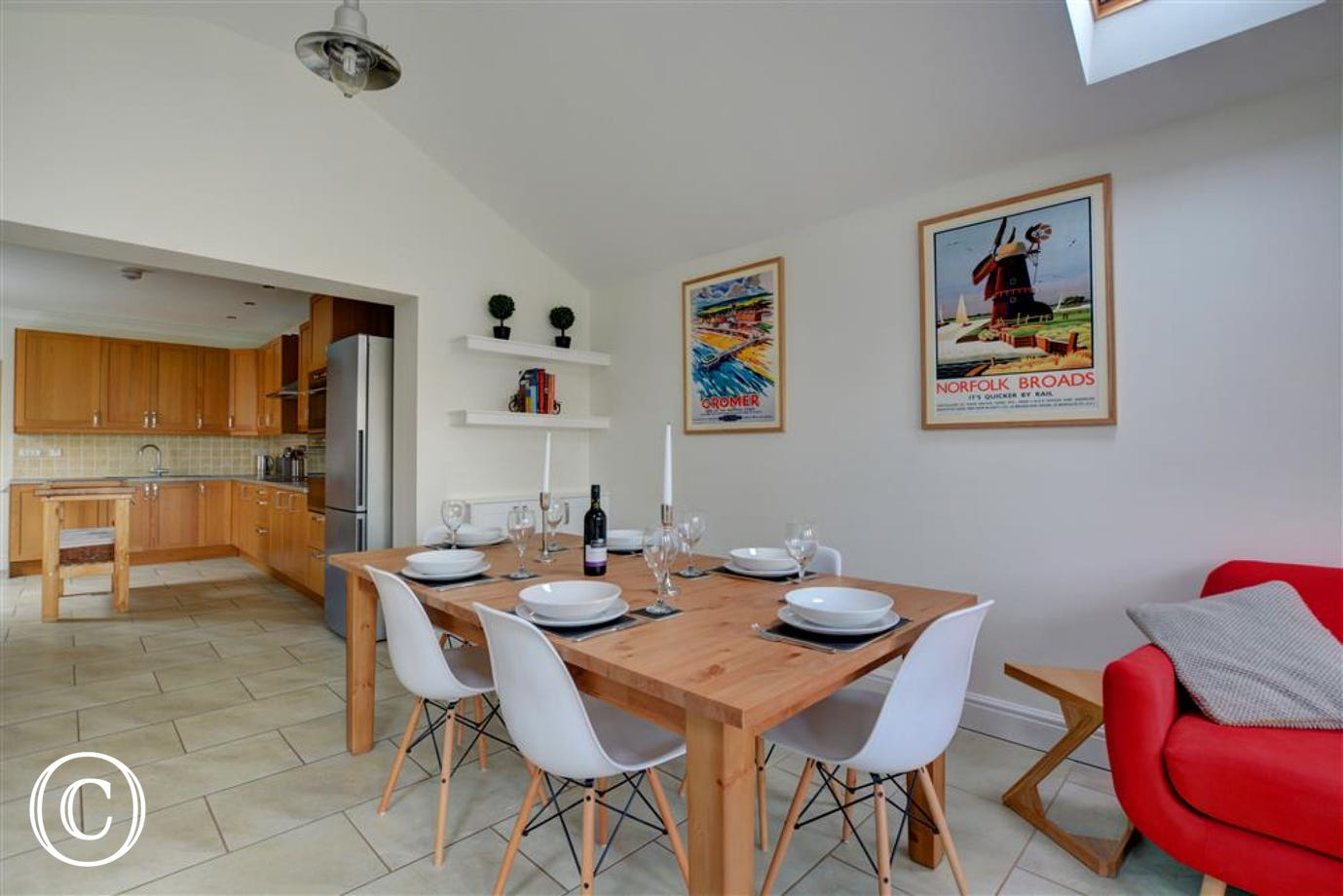 Dining area within the open plan living space