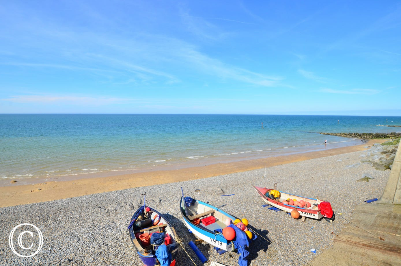 Boats on Sheringham beach