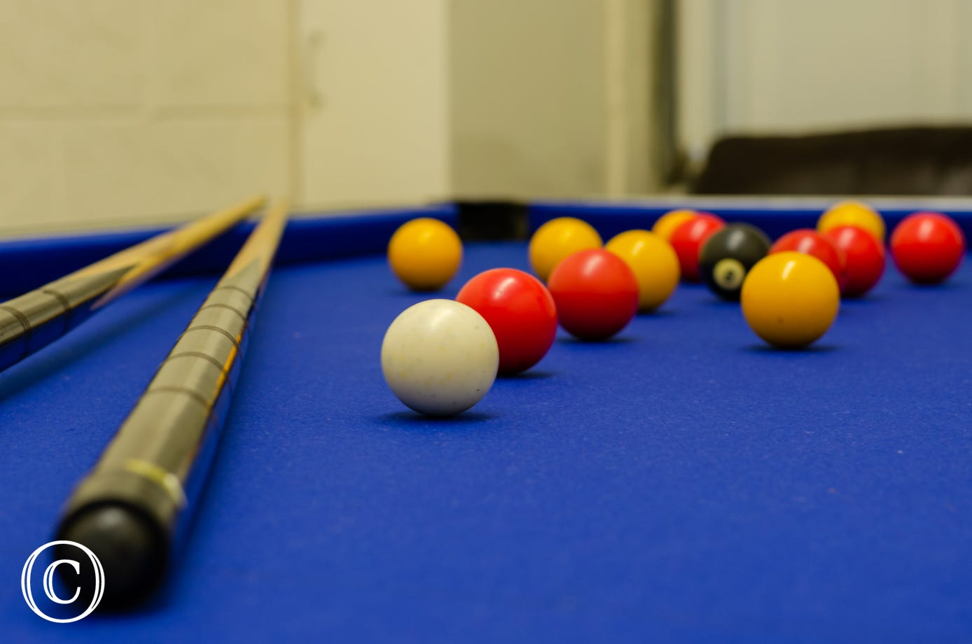 Fully equipped pool table