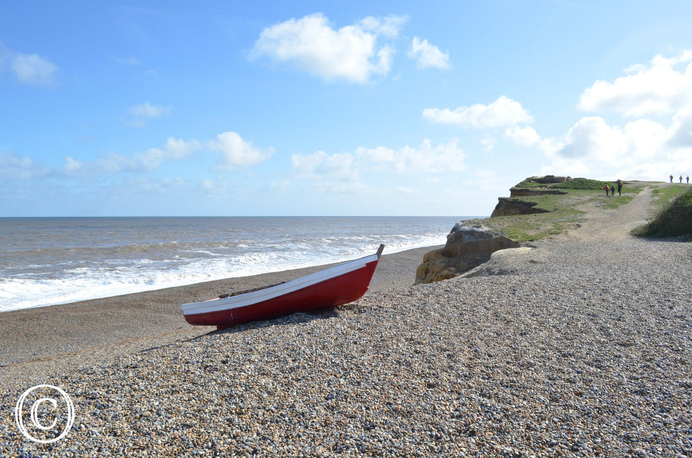 Weybourne Beach located 2 miles away