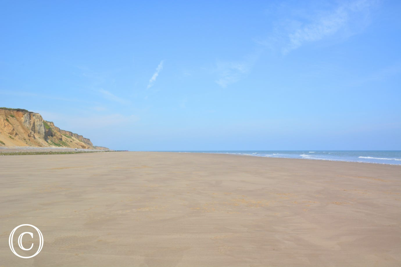 The beach at East Runton, just a stones throw away