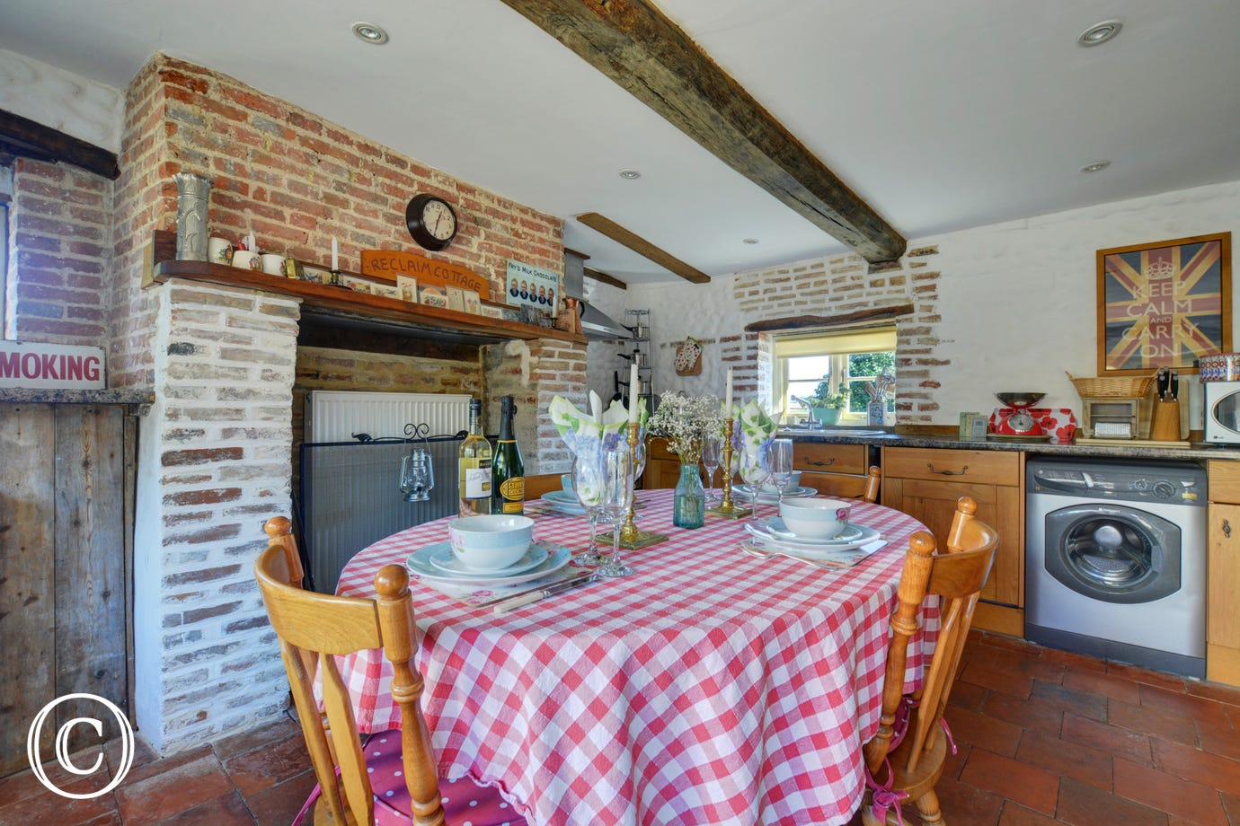 Light and airy dining space with table and chairs, perfect for family meals