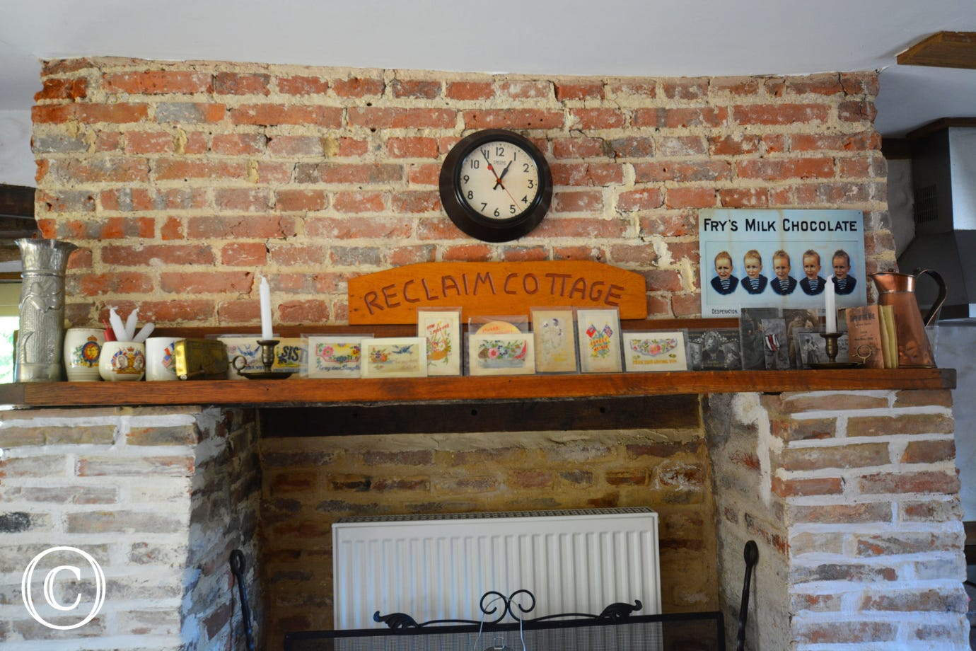 Mantelpiece in the kitchen