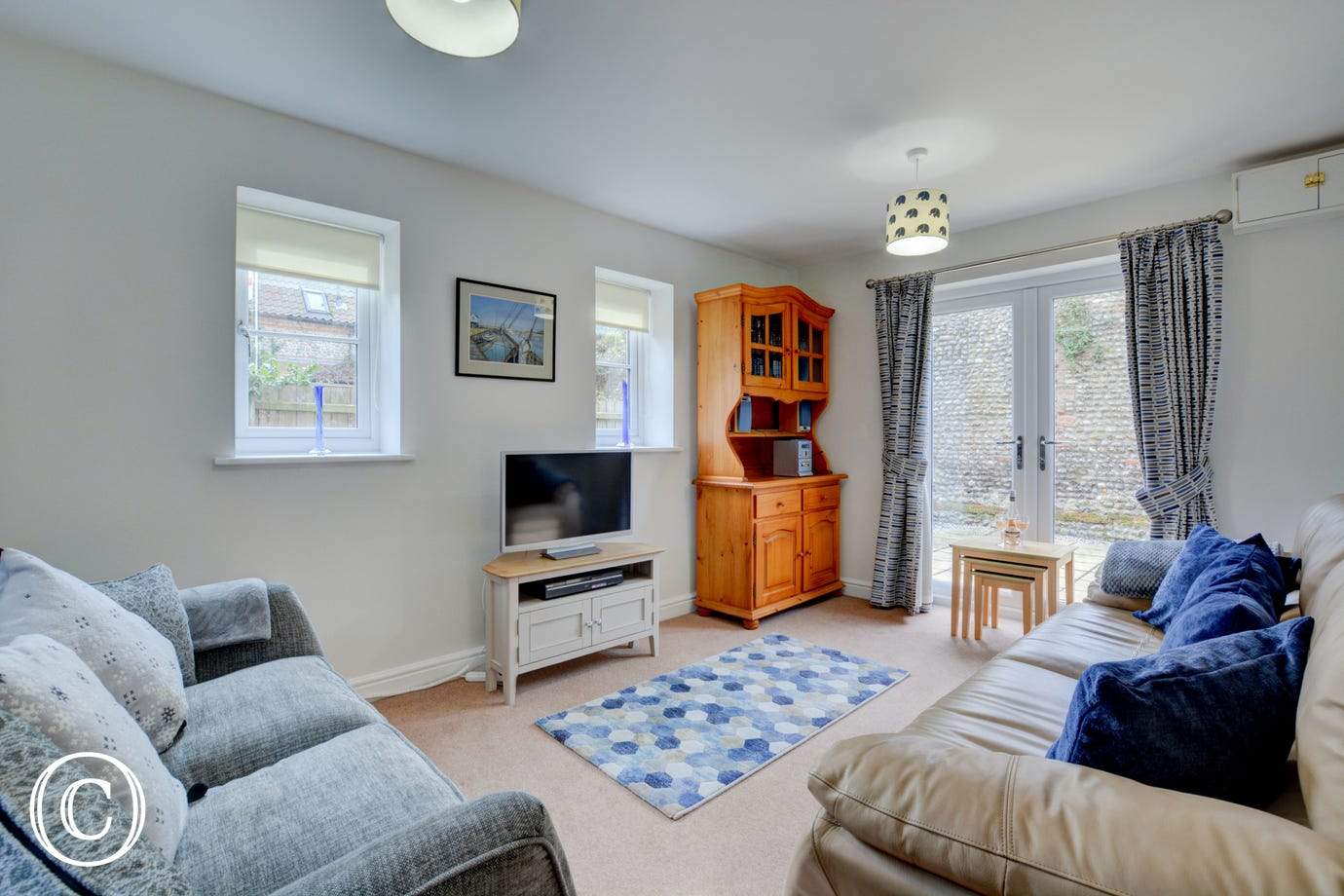 Sitting room with sofas & television